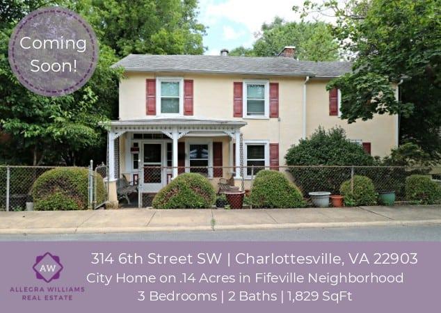 314 6th Street SW | Charlottesville, VA 22903 - Coming Soon!